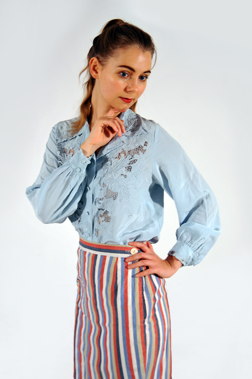 7d415522d009f1 Peony - Hand Embroidered Silk Blouse - Hoopoes
